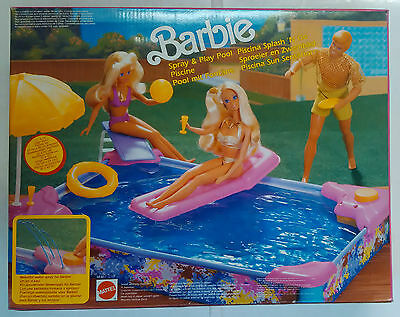 Barbie - Spray & Play Pool - Piscina Sun Sensation - Mattel - Vintage - 1991