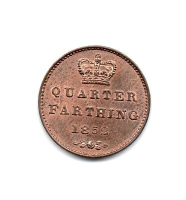1852 Quarter Farthing, Victoria Young Head