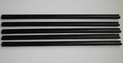 QTY 5 Slide Binders/Spine Bars Size 6mm x 297mm in (40 Sheet Capacity)