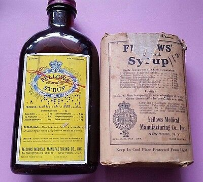 Fellows Compound Syrup Bottle (Full)