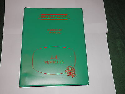 BMC MORRIS J4 JO.4 M10 workshop manual issued 1960 in very good condition