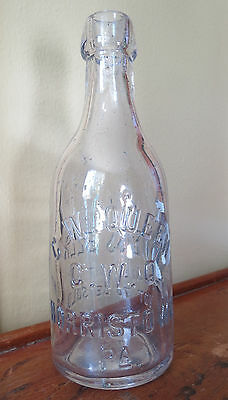 Old Cw Queen Weiss Beer Bottle - Norristown Pa