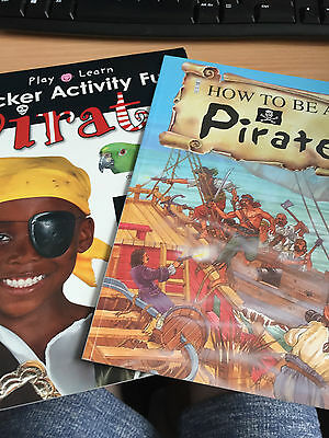 Set Of 2 Primary School Pirate Themed Books. See Description