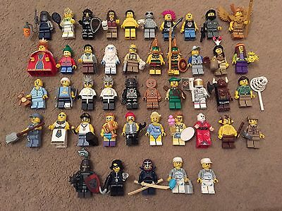 Lego Minifigures Series Job Lot 45 Figures Series 1,3,4,5,7,8,10,11,15
