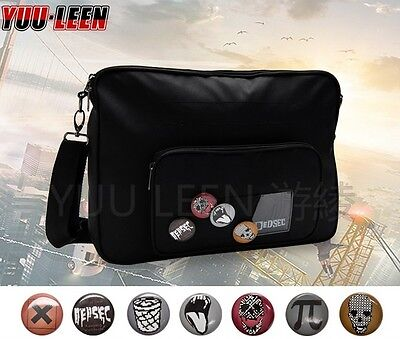 New Watch Dogs 2 Marcus Holloway Shoulder Bag Casual Cross Body Dedsec Badges