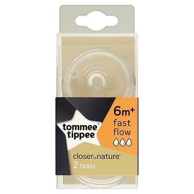 Tommee Tippee Closer to Nature Fast Flow 6m+ Teats (2-pack ) Easi Vent