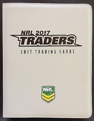 2017 Nrl Traders Trading Card Album With Full Base Set - 160 Cards