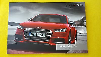 Audi TT & TTS Coupe & Roadster official paper brochure catalogue May 2016 MINT