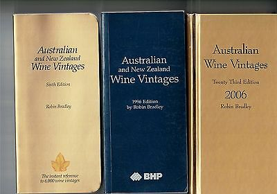 AUSTRALIAN & N.Z. WINE VINTAGES, 1988,1996 & 2006 by Robin Bradley as NEW