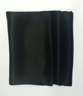 New! Mens 100% Pure Black Silk Scarves! Tailor made in London By Red