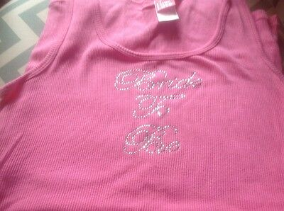 Pink BRIDE TO BE Tank Top M Wedding Bachelorette
