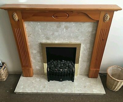 Fire surround/Electric fire/marble surround