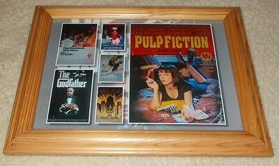 Framed print of Terminator, Godfather, Dirty Harry, Pulp Fiction