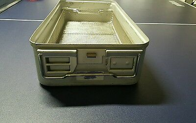 Aesculap 78532 Medical Surgical Instrument Sterilization Case Tray+basket
