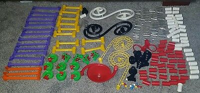 Marbleworks Marble Run Discovery Quercetti Huge Mixed Lot 179 Pieces Compatible