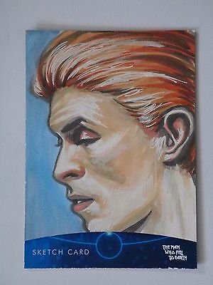 DAVID BOWIE THE MAN WHO FELL TO EARTH Sketch Card