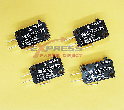 (4 Pack) V-15-1C25 Omron Micro Limit Switch 15A 125/250VAC Micro Switch 1185RE8