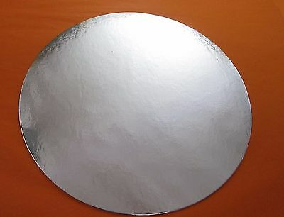 """9"""" & 10"""" Silver Cake Cards Round Cut Edge 1.5mm thick"""
