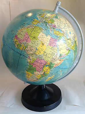 Large Globe by Rath Political, 1983 Made in GDR, Scale 1:38600000, 46cm High