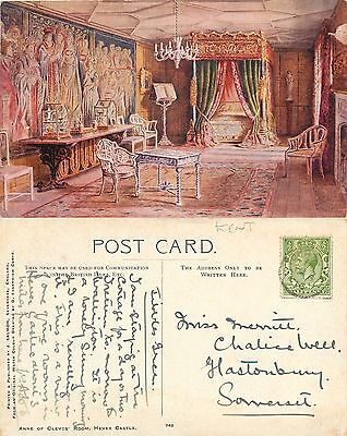 s09704 Anne of Cleves Room, Hever Castle, Kent, England postcard posted 1916