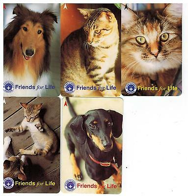 Singapore Phone cards (Friends for Life, 5pcs, used)