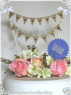 Together Forever**personalised*cake Topper**wedding**bunting**bespoke**