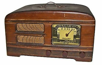 【RARE】Vintage 40s Packard Bell 65A Tabletop 6-Tube Stationized Radio!WORKS GREAT