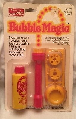 Vintage Bubble Magic Set 1982  Chemtoy Bubble Pipe Sealed On Original Board Toy