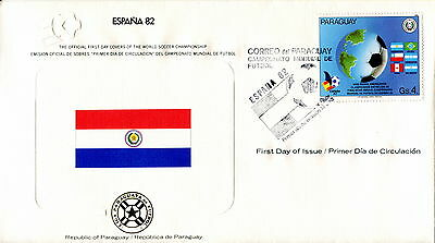 1982 Paraguay. Football World Cup First Day Cover. Royal Spain Federation