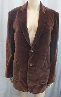 "Vintage Brown Velvet Blazer Jacket  ☆ Size Small  36- 38"" Chest"