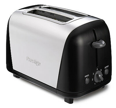 Prestige Create Stainless Steel 2 Slice Toaster with Auto 'Pop Up' New