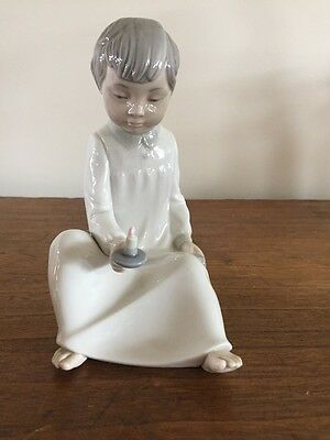 Nao by Lladro Figurine - Child With Candle And Book