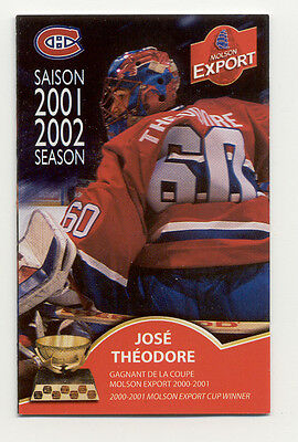 2001 - 02 Montreal Canadiens NHL Hockey Schedule ******* Free Shipping *****