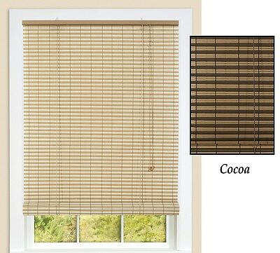 """30"""" x 72"""" Beautiful Cocoa Two Tone Indoor or Outdoor Ashland Roll-up Blinds"""