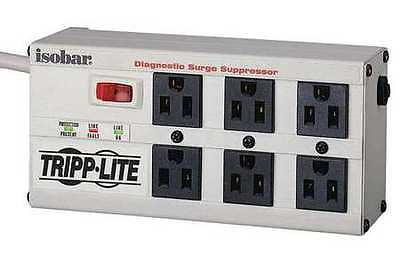 Tripp Lite Isobar 6 Outlet Surge Protector Power Strip 6ft Cord Right Angle Plug