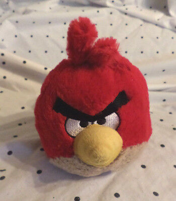 """Red Angry Birds 6"""" Plush Soft Toy Stuffed Animal"""