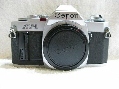 Canon  AV-1   Classic  35mm Film Camera.