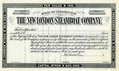 18__ New London Steamship Stock Certificate