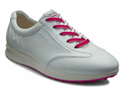 ECCO Womens Street Evo White Hydromax Leather Spikeless Golf Shoes