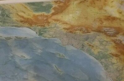 Southern California Topographic Wall Map by Raven Maps 1992 Laminated
