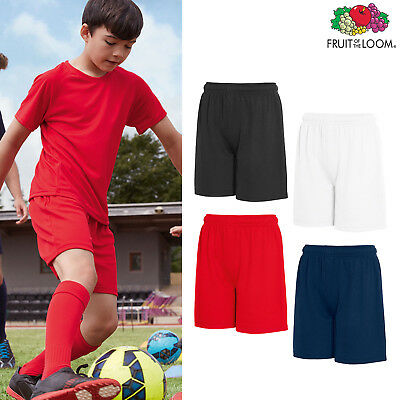 Fruit of the Loom Kids Performance Shorts - Boys/Girls Sports P.E gym Polyester