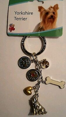 Dog key chain, Yorkie, key chain by Little gifts,Yorkshire terrier,