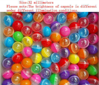 "50pcs wholesale lot Mix Empty round toy capsules 1.2"" (32mm)"
