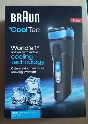 BRAUN CoolTec CT2s Wet and Dry Electric Foil Shaver BNIB & SEALED