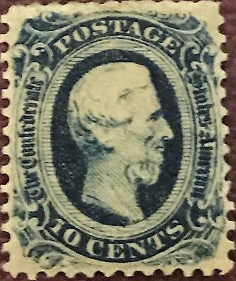 Confederate CSA #11 Ten Cent Stamp Perforated MINT Original Gum Never Hinged