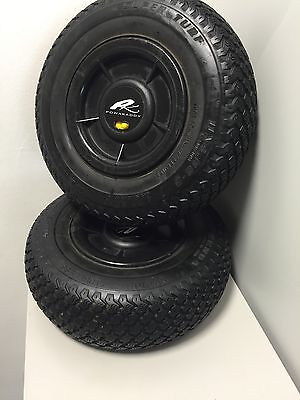 Genuine Powakaddy Pneumatic Wheels Wet Weather Winter. Very Good condition.