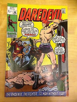 Marvel Comics. Daredevil Comics. (Vol 1) #  68. 1970