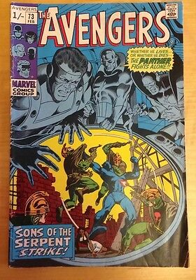 """Marvel Comics. Avengers Issue 73 1970. """"THE STING OF THE SERPENT"""""""