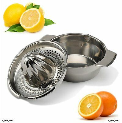 Stainless Steel Citrus Orange Juicer Lemon Lime Fruit Hand Squeezer Kitchen Tool