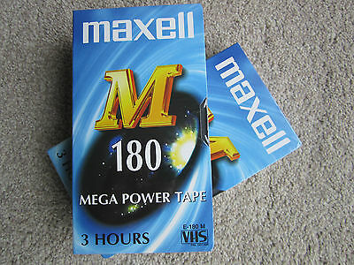 Maxell M 180 VHS Tapes